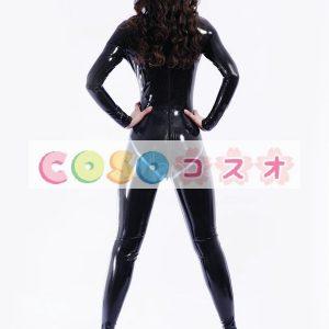 ラテックスキャットスーツ ブラック ユニセックス 大人用 ボディースーツ コスチューム―taitsu-tights0124