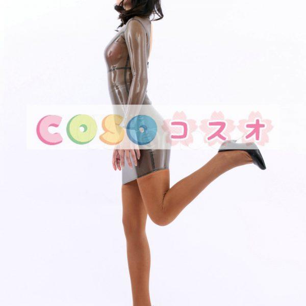 コスチューム衣装 ワンピース ラテックス トランスペアレント 大人用 女性用 ―taitsu-tights0147 1