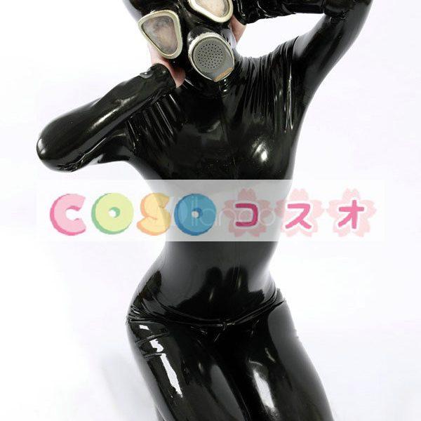 ラテックスキャットスーツ,ユニセックス 大人用 ブラック 変装パーティー コスチューム―taitsu-tights0166 1