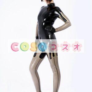 ラテックスキャットスーツ,ブラック コスチューム衣装 セクシー 仮装パーティー―taitsu-tights0178