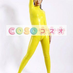 ラテックスキャットスーツ,イエロー ユニセックス 大人用 コスチューム ファッション―taitsu-tights0280