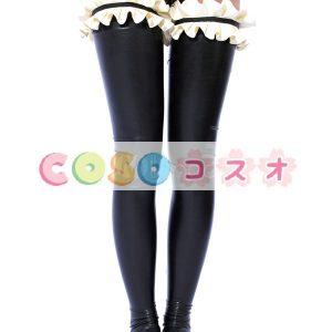 ストッキング 全身タイツアクセサリー フリル 可愛い ブラック コスチューム 仮装パーティー―taitsu-tights0289