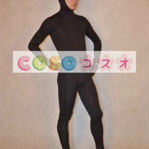全身タイツ ブラック 単色 変装コスチューム 顔部分が開いている全身タイツ 大人用 ユニセックス―taitsu-tights0339