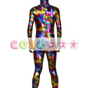 メタリック全身タイツ,迷彩色 ユニセックス 大人用 開口部がない コスチューム衣装 ―taitsu-tights0357