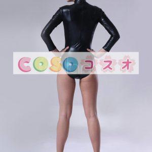 全身タイツ,メタリック セクシー 女性用 大人用 ブラック レオタード コスチューム  ―taitsu-tights0466