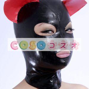 全身タイツアクセサリー,マスク ブラック コスチューム 仮装パーティー 耳付き―taitsu-tights0502