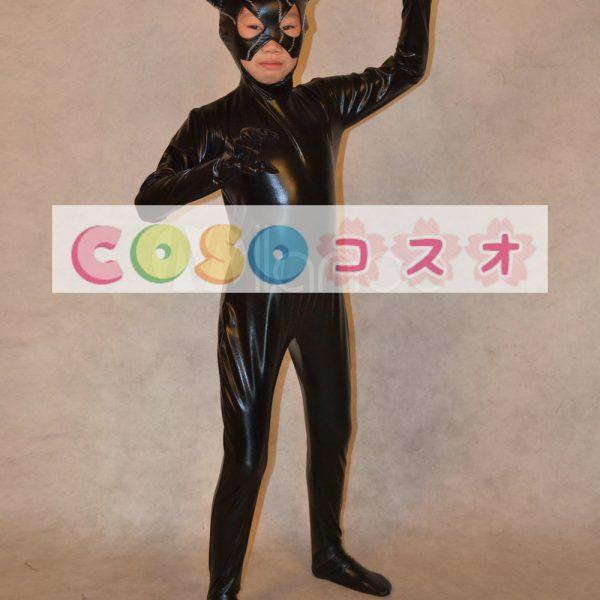 メタリック全身タイツ,ユニセックス 子供用 ジャンプスーツ 口出し コスチューム衣装―taitsu-tights0514 1