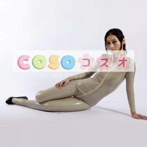 ラテックスキャットスーツ,イエロー ボディースーツ ユニセックス 大人用 コスチューム―taitsu-tights0586