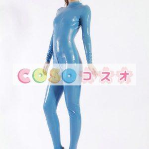 ラテックスキャットスーツ,コスチューム ブルー ユニセックス 大人用 仮装パーティー―taitsu-tights0592