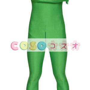 全身タイツ コットン+スパンデックス グリーン 仮装コスチューム ハロウィーン―taitsu-tights0657