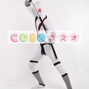 全身タイツ,大人用 サムライ ユニセックス コスチューム カラーブロック 開口部のない全身タイツ ―taitsu-tights0701