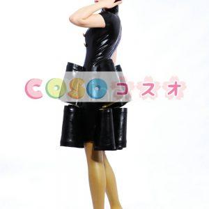 ラテックスドレス,ブラック ファッション コスチューム コスプレ 仮装パーティー ―taitsu-tights0705