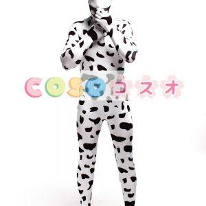 全身タイツ,大人用 牝牛 ユニセックス カラーブロック 開口部のない全身タイツ 仮装コスチューム ―taitsu-tights1122