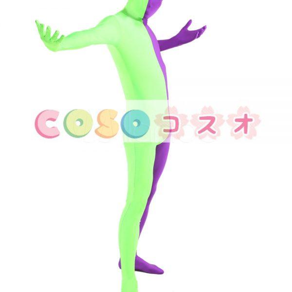 全身タイツ ユニセックス カラーブロック 大人用 開口部のない全身タイツ 仮装コスチューム ―taitsu-tights1147 1