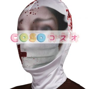 全身タイツアクセサリー,マスク 悪魔 怖い 開口部がない 仮装コスチューム ―taitsu-tights1259