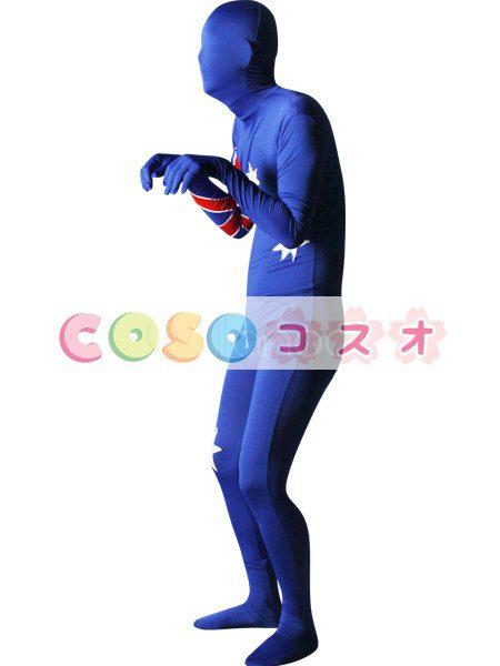 全身タイツ,オーストラリアの国旗柄 ユニセックス 大人用 コスチューム衣装 コスプレ ―taitsu-tights1291 1