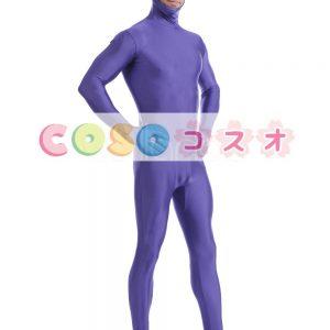 紫のオープンフェイス ユニセックス ライクラ スパンデックス全身タイツ スーツ―taitsu-tights1452