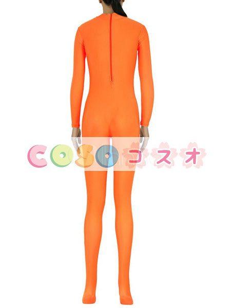 ライクラタイツ オレンジ色 ライクラ・スパンデックス 大人用 女性用 ノベルティ ―taitsu-tights1564 1