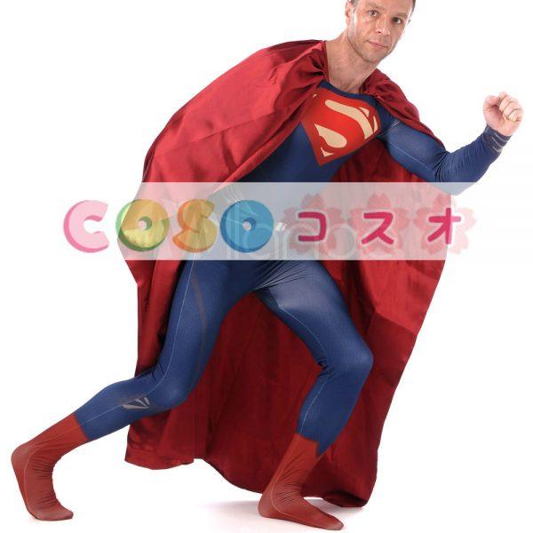 全身タイツ ブルー 大人用 ユニセックス スーパーマン ―taitsu-tights0921 1