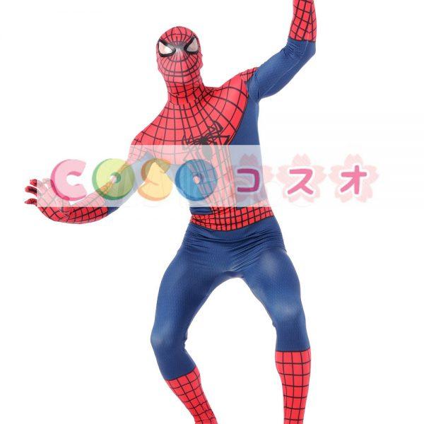 全身タイツ ブルー 大人用 ユニセックス スパイダーマン ―taitsu-tights0927 1