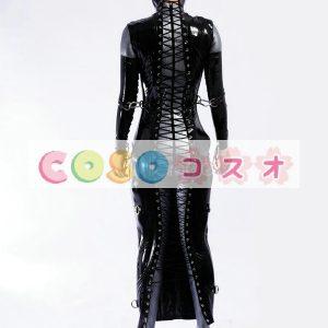 ラテックスドレス,ブラック セクシー ファッション コスチューム コスプレ―taitsu-tights0220