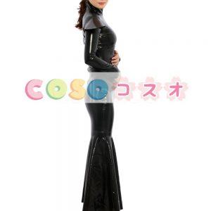 ラテックスドレス,ブラック ファッション ロングドレス コスチューム コスプレ ―taitsu-tights0300