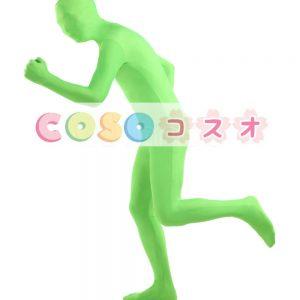 全身タイツ グラスグリーン 単色 開口部のない全身タイツ 大人用 変装コスチューム ユニセックス ―taitsu-tights0525