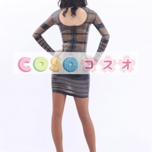 コスチューム衣装 ワンピース ラテックス トランスペアレント 大人用 女性用 ―taitsu-tights0530