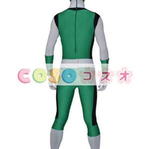 全身タイツ グリーン ユニセックス カラーブロック 大人用 開口部のない全身タイツ 仮装コスチューム ―taitsu-tights0663