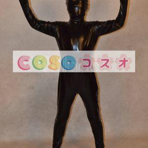 メタリック全身タイツ,ブラック ユニセックス 子供用 コスチューム衣装 開口部がない ―taitsu-tights0719