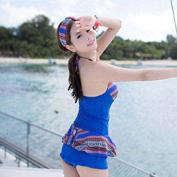 メール便送料無料♪(yuuwa) ワイヤー付き ワンピース水着 水着 ブルー  水着ー即日発送激安通販-YMS4166 1