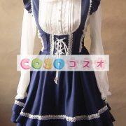 ジャンパースカート ロリィタ服 レースアップ カジュアル スウィート ―Lolita0002