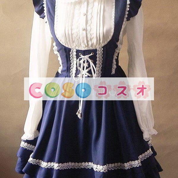 ジャンパースカート ロリィタ服 レースアップ カジュアル スウィート ―Lolita0002 1
