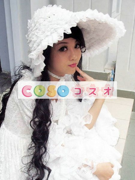 女性のための白いレースのロリータ ドレス ―Lolita0064 1