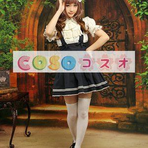 スカート ロリィタスカート ダークネイビー コットン ストライプ ―Lolita0089