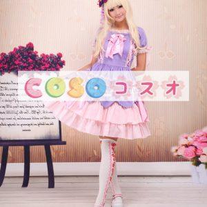 ロリィタワンピース 半袖 リボン コットン スウィート ―Lolita0112