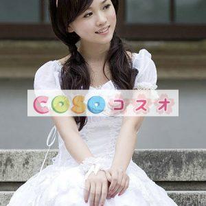 女性のための白弓シフォン カントリーロリータ ドレス ―Lolita0263