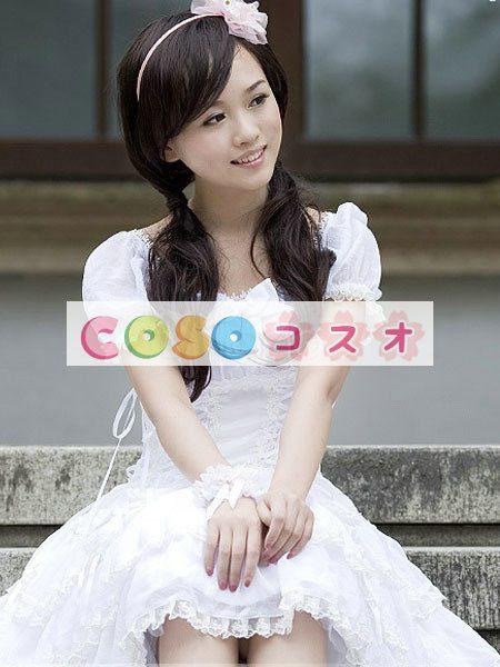女性のための白弓シフォン カントリーロリータ ドレス ―Lolita0263 1