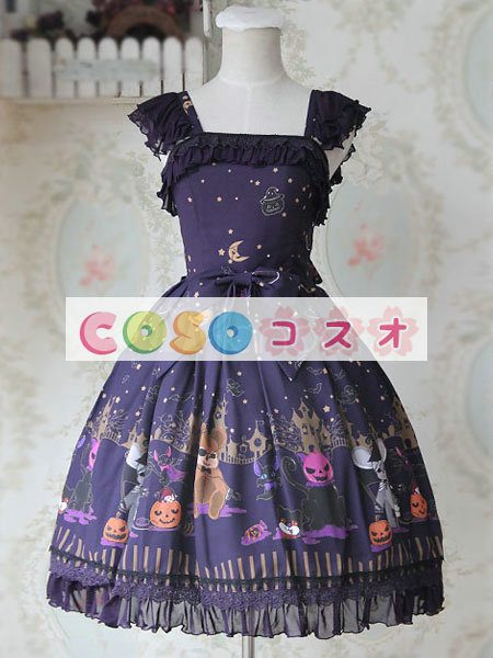 甘い弓シフォン カントリーロリータ ドレス ―Lolita0266 1