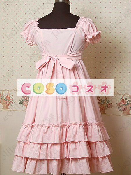 甘いスクエア ネック ピュア コットン カントリーロリータ ドレスをフリルします。 ―Lolita0297 1