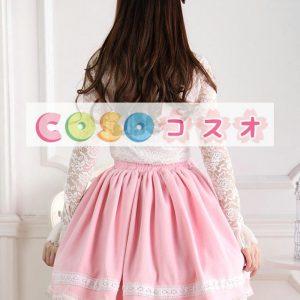 ピンク ロリィタスカート スウィート リボン パール ―Lolita0299