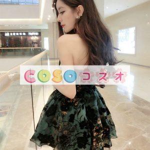 コルセット 可愛い 合成繊維 パーティー エメラルドグリーン  ―Lolita0412