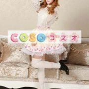 スウィート イエロー ロリィタスカート レーストリム ケーキプリント ―Lolita0486