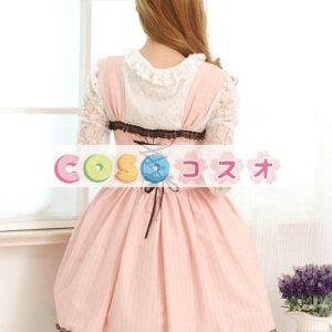 甘いピンク レース スクエア ネック ロリータ ジャンパー スカート ―Lolita0509
