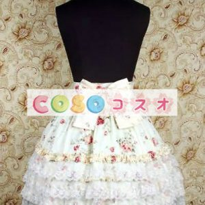 甘いベージュ ボー花の純粋な綿ロリータ スカート ―Lolita0622