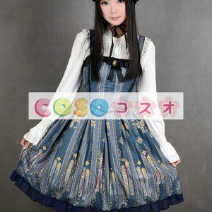 印刷のロリータ ドレス背中の開いたドレス シフォン ―Lolita0794