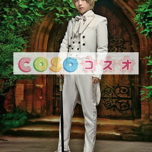 ロリータ服,エクリュホワイト シャツ&コート&パンツのセット 王子様風 ―Lolita0853