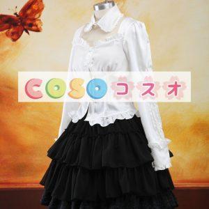 ロリータセパレート ブラック&ホワイト ロングスリーブ クラシック&トラディション 姫袖  ―Lolita0904
