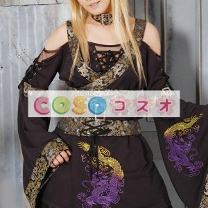 ロリータセパレート,パープル&ブラック 姫袖 ロングスリーブ パンク 綿混紡  ―Lolita0905