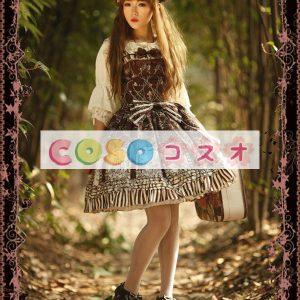 スウィートジャンパースカート ロリィタ服 ローズタワー プリント ―Lolita0001